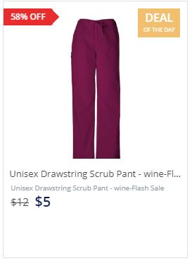 Unisex Drawstring Scrub Pant - wine-Flash Sale-The Ultimate Image