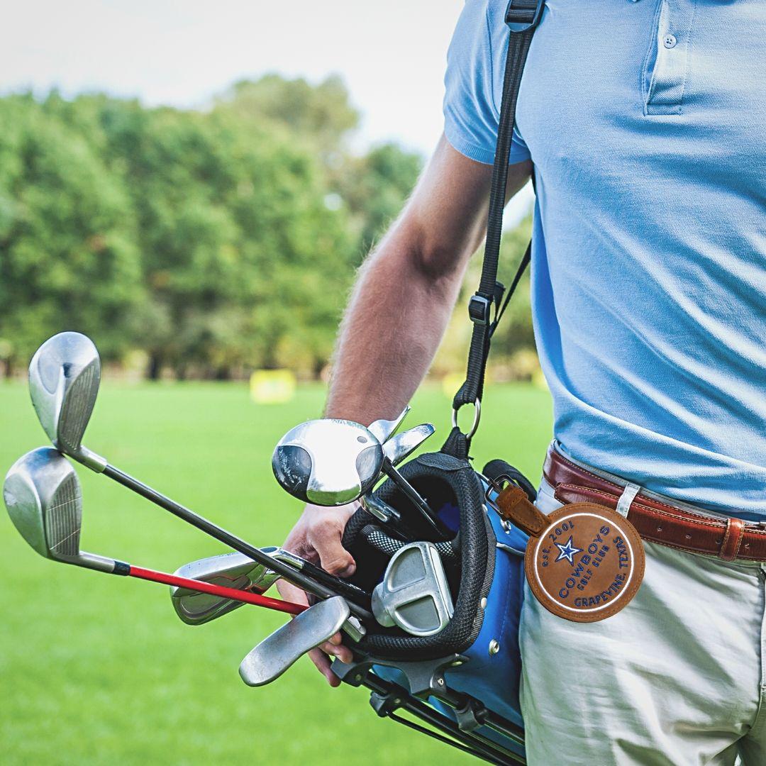 Golfer with Bag Tag