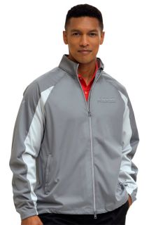 Greg Norman Full-Zip Pieced Weatherknit Jacket-Greg Norman