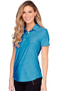 Womens Greg Norman Play Dry? Heather Solid Polo