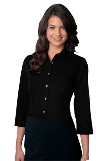 Van Heusen Womens Easy-Care Dress Twill Shirt-Van Huesen