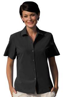 Womens Vansport® Woven Camp Shirt-Van Sport