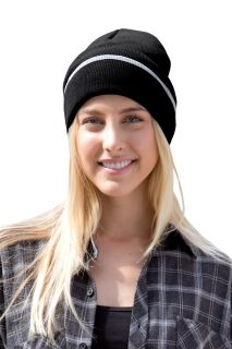Edge Stripe Knit Beanie-Vantage