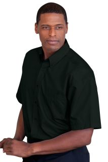 Blended Poplin Short Sleeve Shirt-Vantage