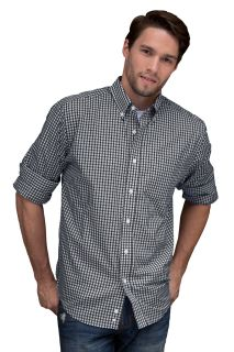 Easy-Care Gingham Check Shirt-Vantage