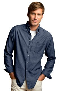 Mens Hudson Denim Shirt-Vantage