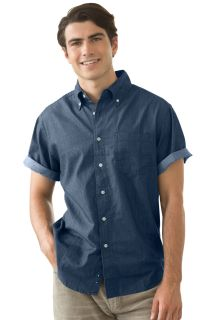 Mens Short-Sleeve Hudson Denim Shirt-Vantage