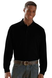 Long Sleeve Soft-Blend Double-Tuck Pique Polo-Vantage