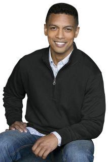 Premium Cotton 1/4-Zip Fleece Pullover-Vantage
