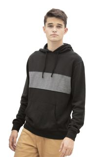 Premium Cotton Blocked Fleece Pullover Hoodie-Vantage