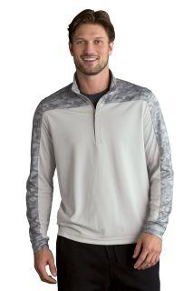 Vansport® Pro Camo Block 1/4-Zip Pullover-Vantage
