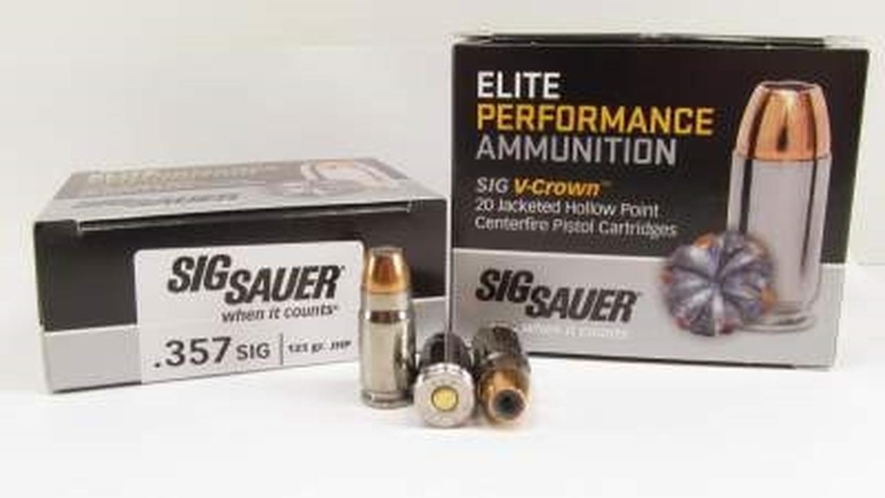 Sig Sauer 357SIG, 125GR, ELITE V-CROWN LE, JHP-