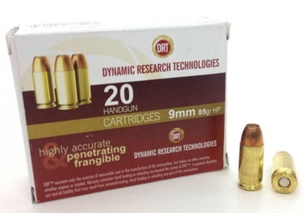 DRT 9mm 20 RD Bags - 85GR JHP Ammo | 198520-Defense Research Technologies