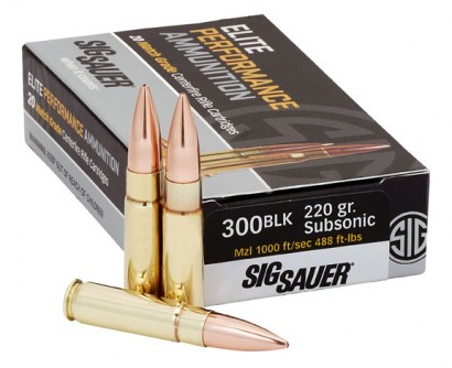 Sig Sauer 300BLK, 220GR, ELITE MATCH GRADE, OTM-
