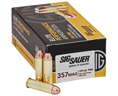 Sig Sauer 357MAG, 125GR, ELITE BALL, FMJ-Sig Sauer