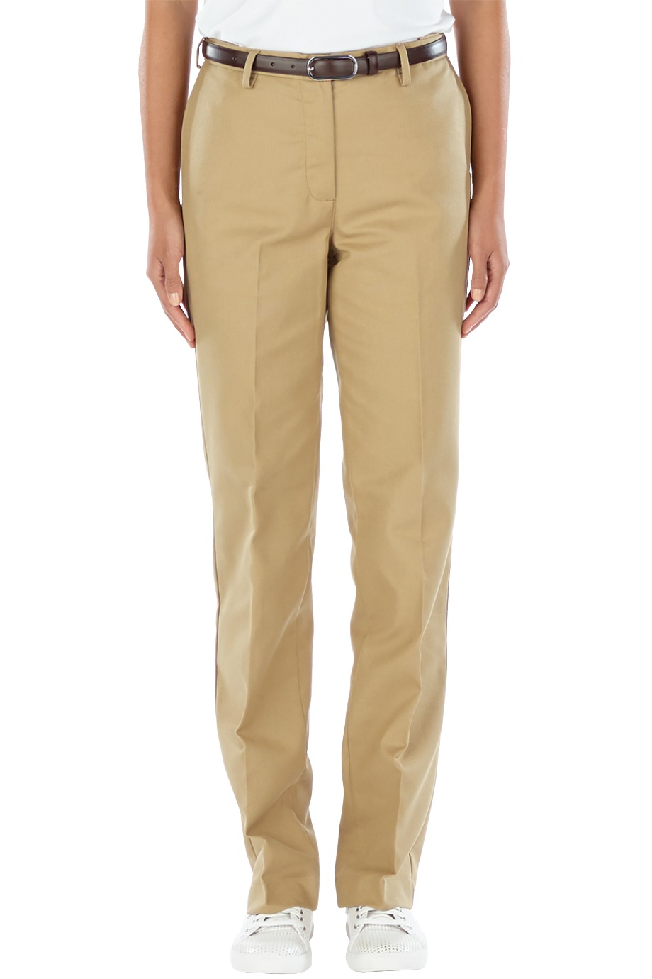 Ladies' Easy Fit Chino Flat Front Pant-Edwards Garment