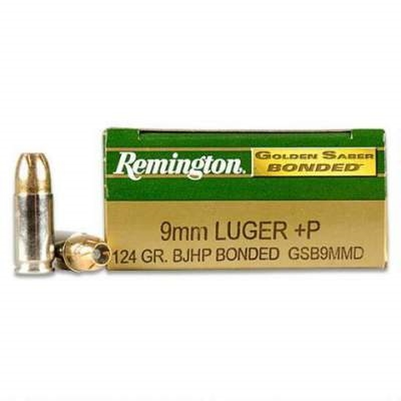 Remington GSB9MMD 9mm 124gr Bonded Ammunition, 10-50rd Boxes, 500rd Case-Remington