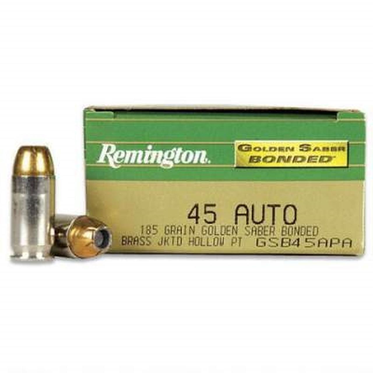 Remington Golden Saber 45 ACP 185gr Bonded JHP - 50 rnds | GSB45APA-Remington