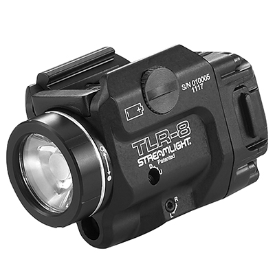 Streamlight TLR-8 Low-Profile, Rail Mounted Tactical Light w/ Red Laser | 69410-Streamlight