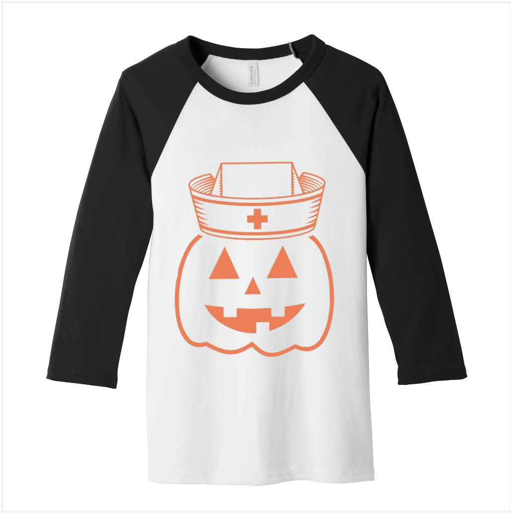 Halloween Medical Pumpkin Baseball Tee-Uniform Headquarters