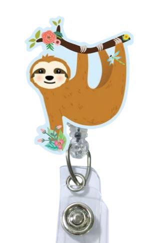 Hanging Sloth Badge Reel-Uniform Headquarters