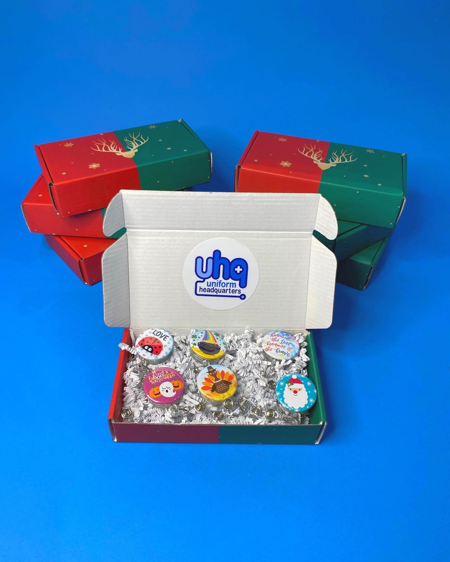 Holiday Badge Reel Gift Set-Uniform Headquarters