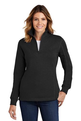 Ladies 1/4 Zip Sweatshirt-SanMar