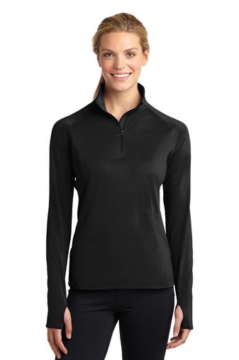 Ladies Stretch 1/2 Zip Pullover-SanMar