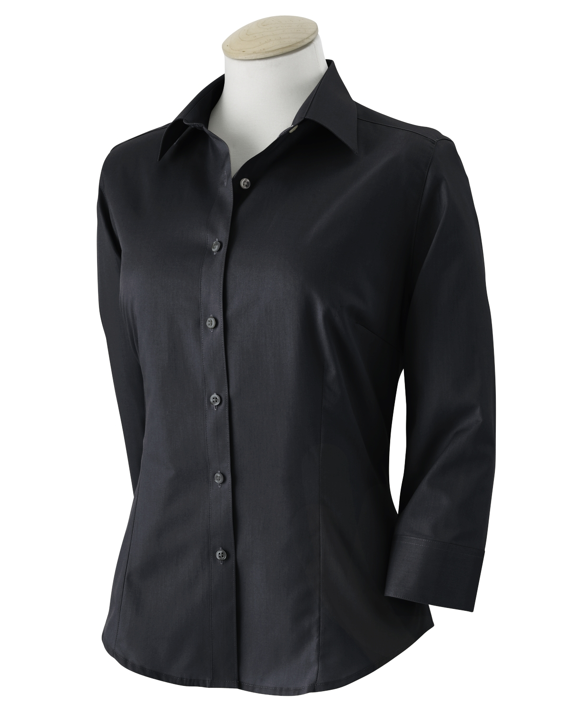 VAN HEUSEN - Women's 3/4 Sleeve Dress Twill-