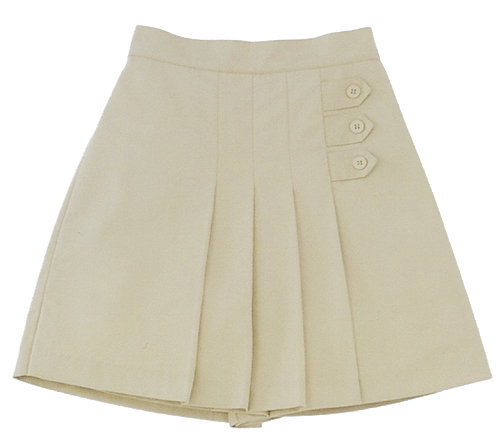 AUW Universal Girl's 3-Button Pleated Skort-