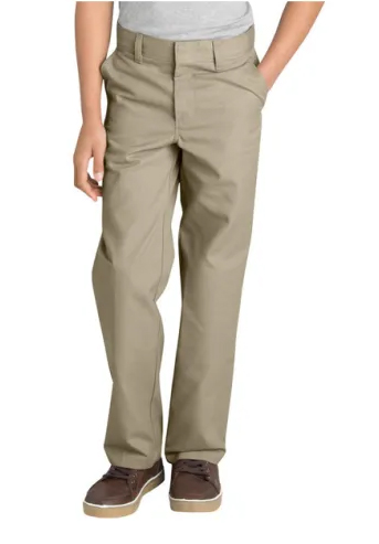 AUW Universal Flat Front Pants for Boy's-All Uniform Wear