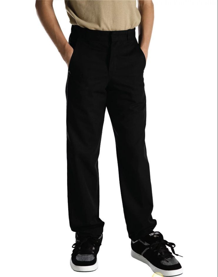 Young Adult Sized Classic Fit Straight Leg Flat Front Pants-
