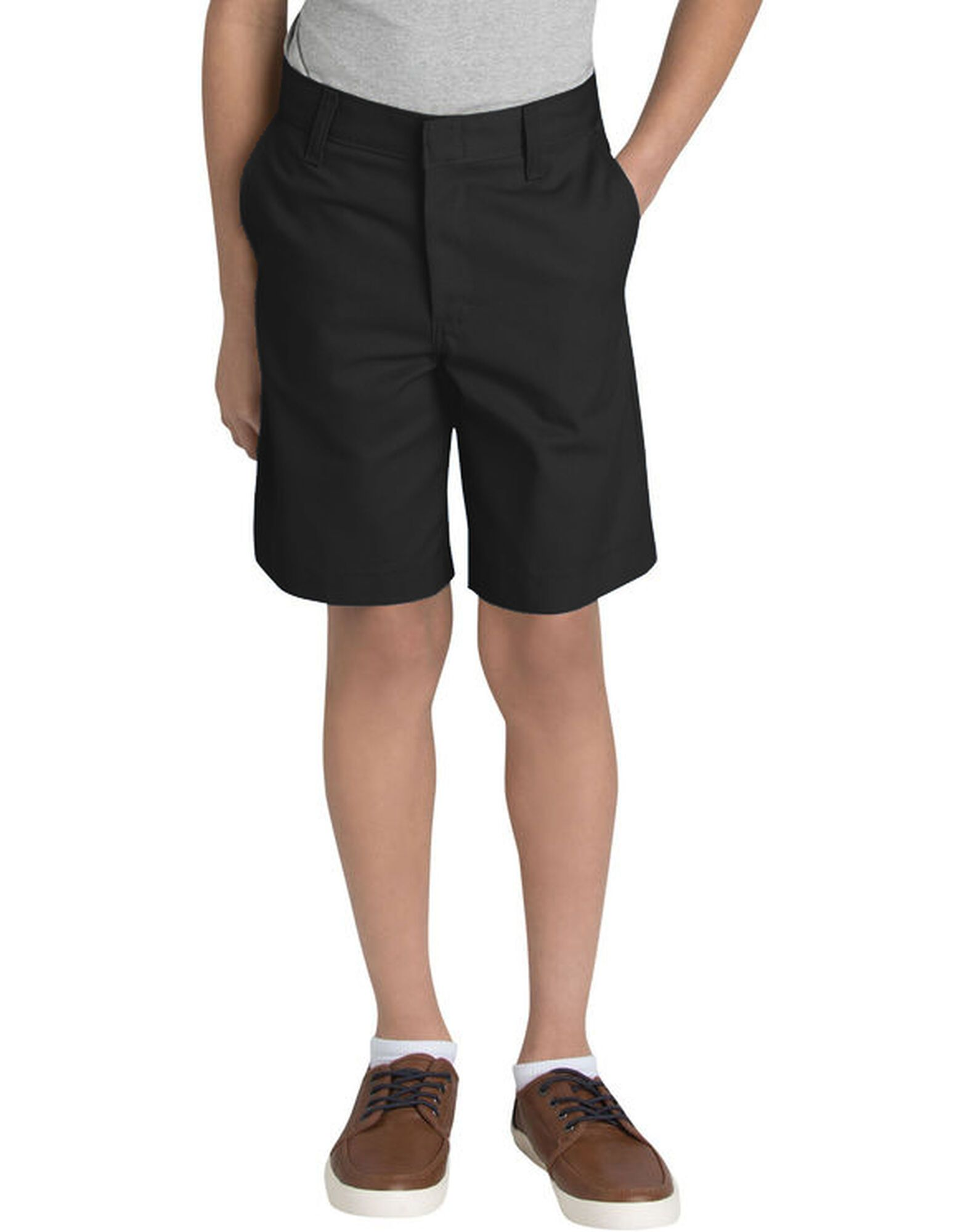 Dickies Boys Young Adult Sized Classic Fit Flat Front Shorts-DK