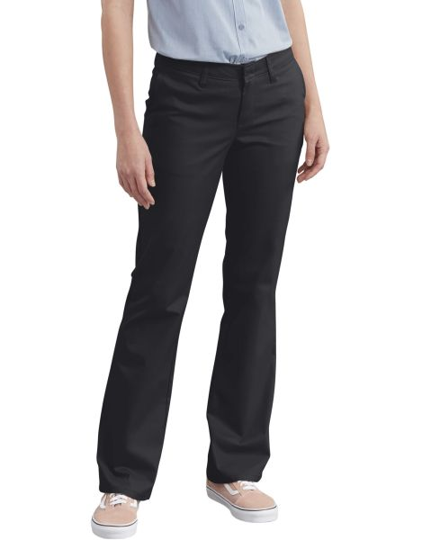 Womens Slim Fit Bootcut Stretch Twill Pants-