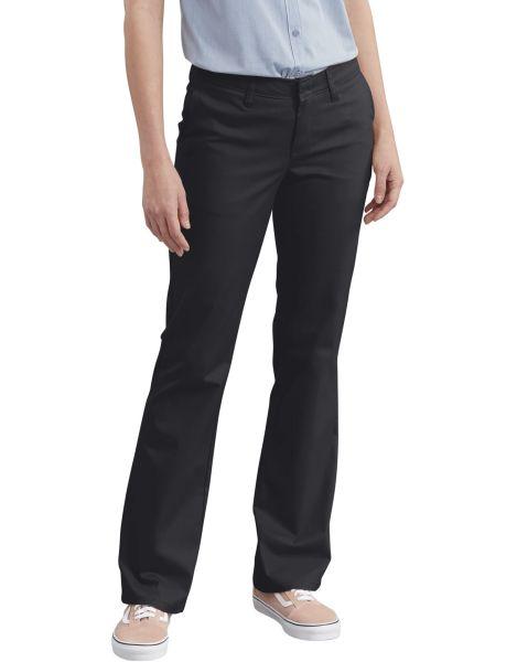 Womens Slim Fit Bootcut Stretch Twill Pants-DK