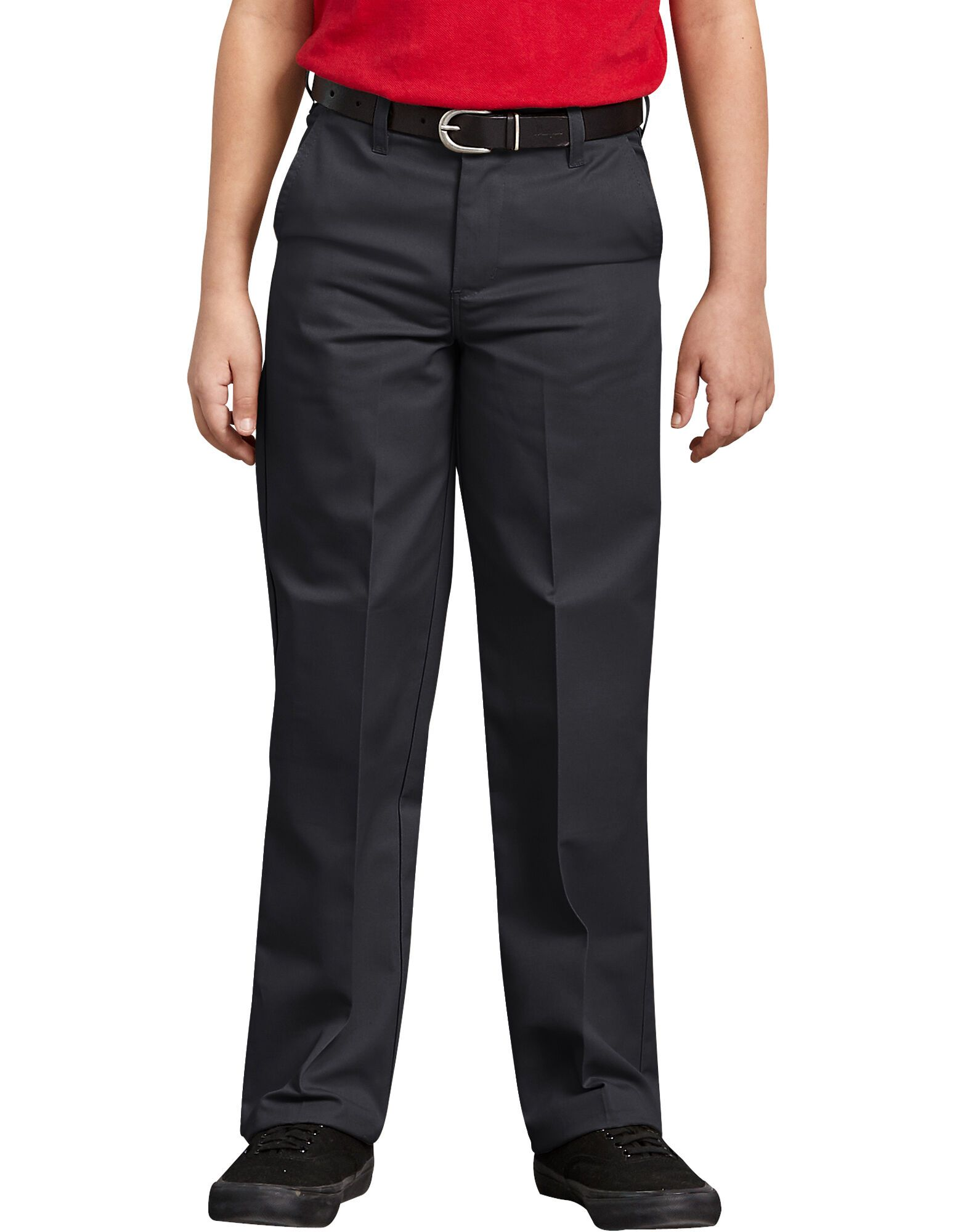 Boys Classic Fit Straight Leg Flat Front Pants, 8-20-DK