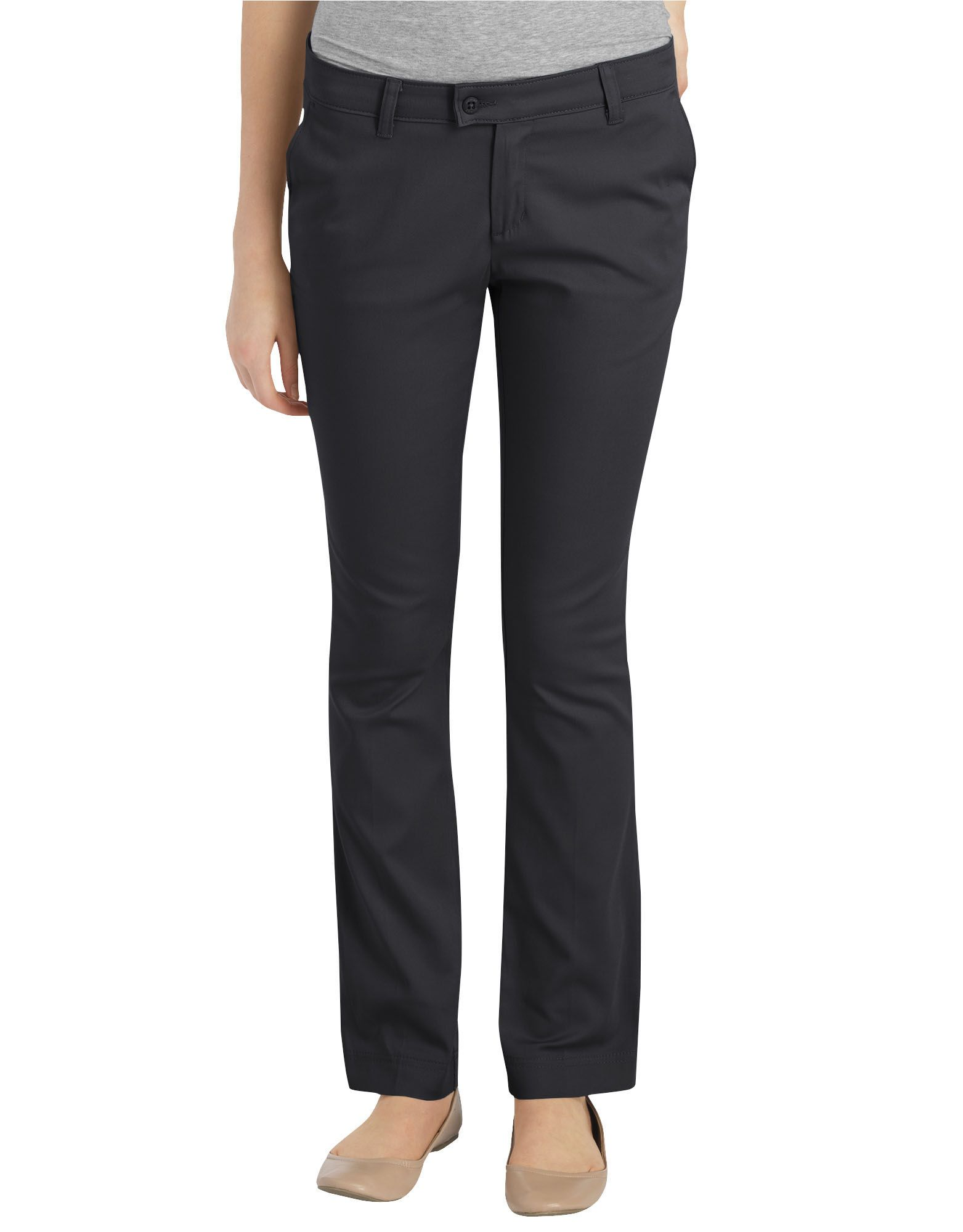 Juniors Schoolwear Slim Fit Straight Leg Stretch Pants-