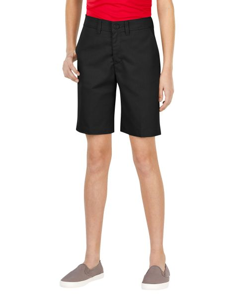 Dickies Girls Girls FlexWaist® Slim Fit Flat Front Shorts (Plus), 10.5 - 16.5-DK