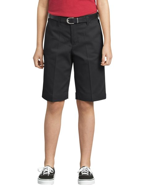 Girls Classic Fit Bermuda Stretch Twill Shorts, 4-6-