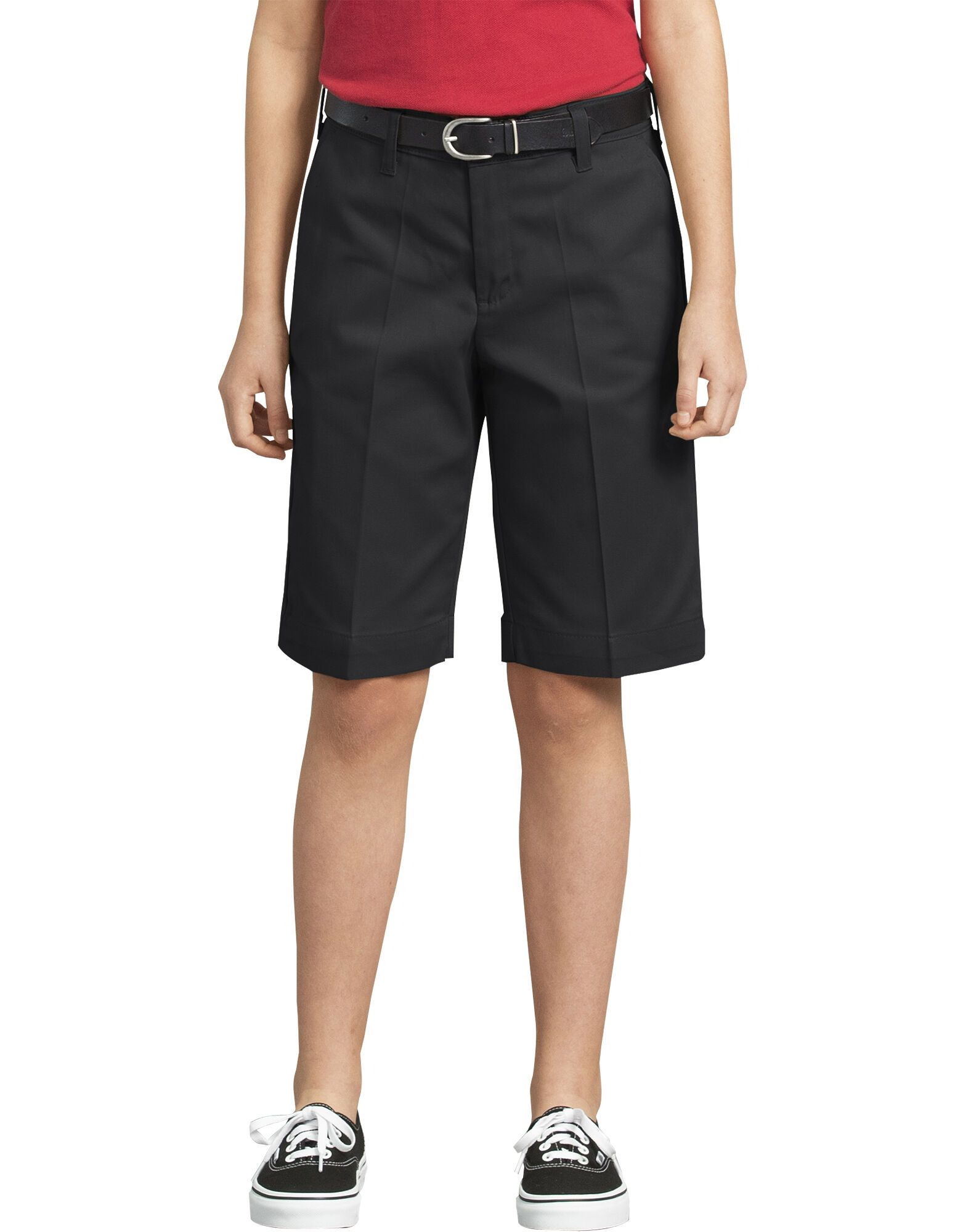 Girls Classic Fit Bermuda Stretch Twill Shorts, 4-6-DK