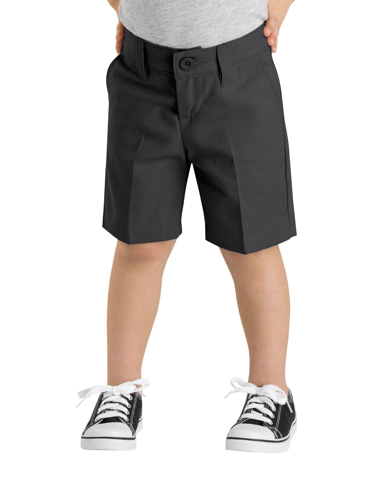 Girls FlexWaist® Slim Fit Flat Front Shorts, 4-6x-DK