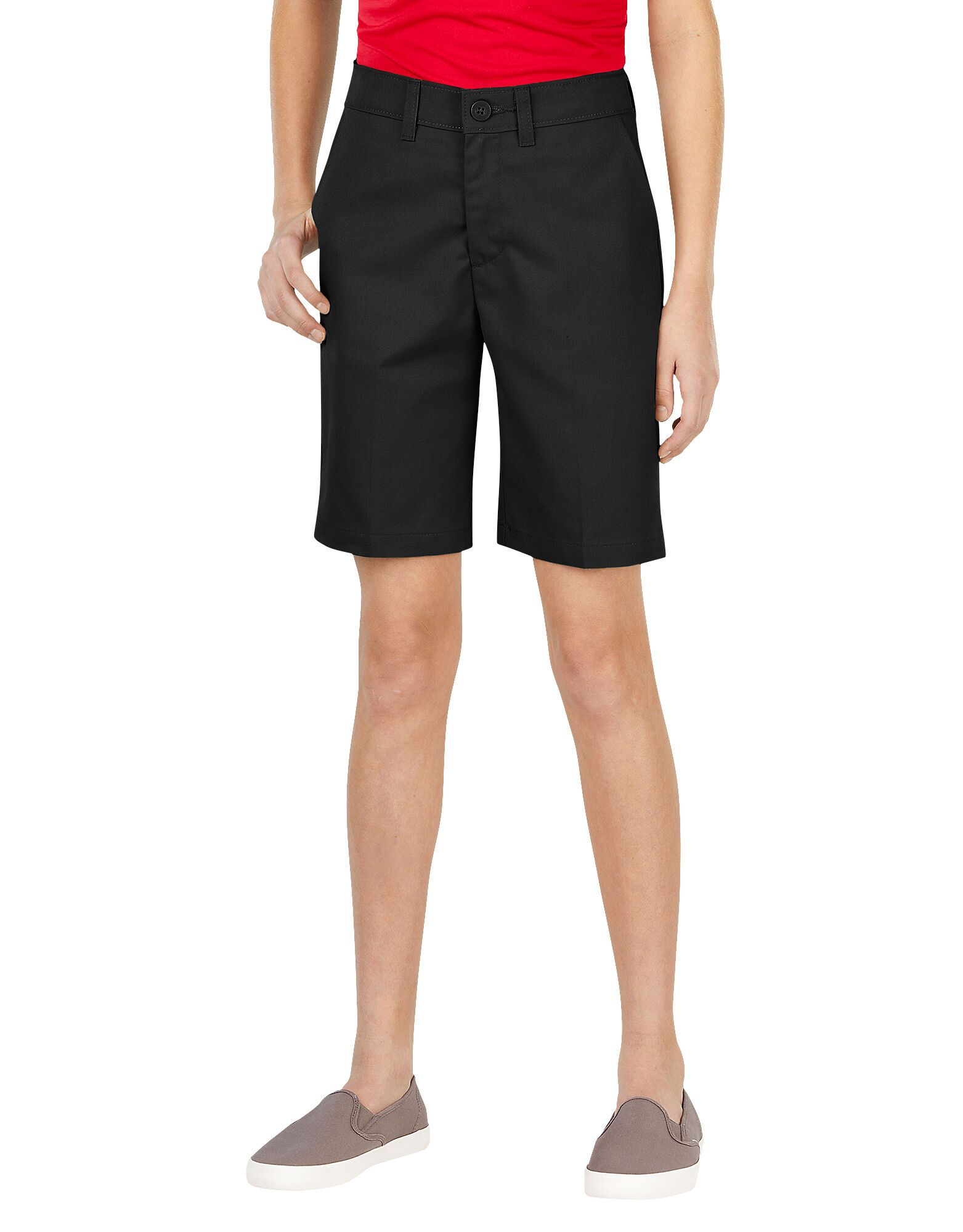 Juniors Schoolwear Slim Fit Flat Front Shorts-