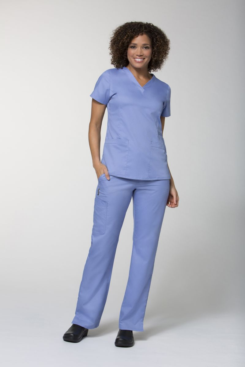 AUW-BASIC V-Neck Scrub Top-AUW BASIC