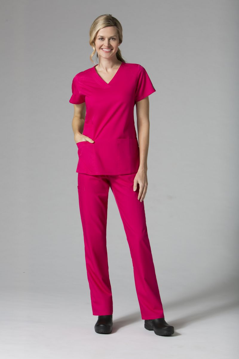 AUW - BASIC V-Neck Scrub Top-AUW BASIC