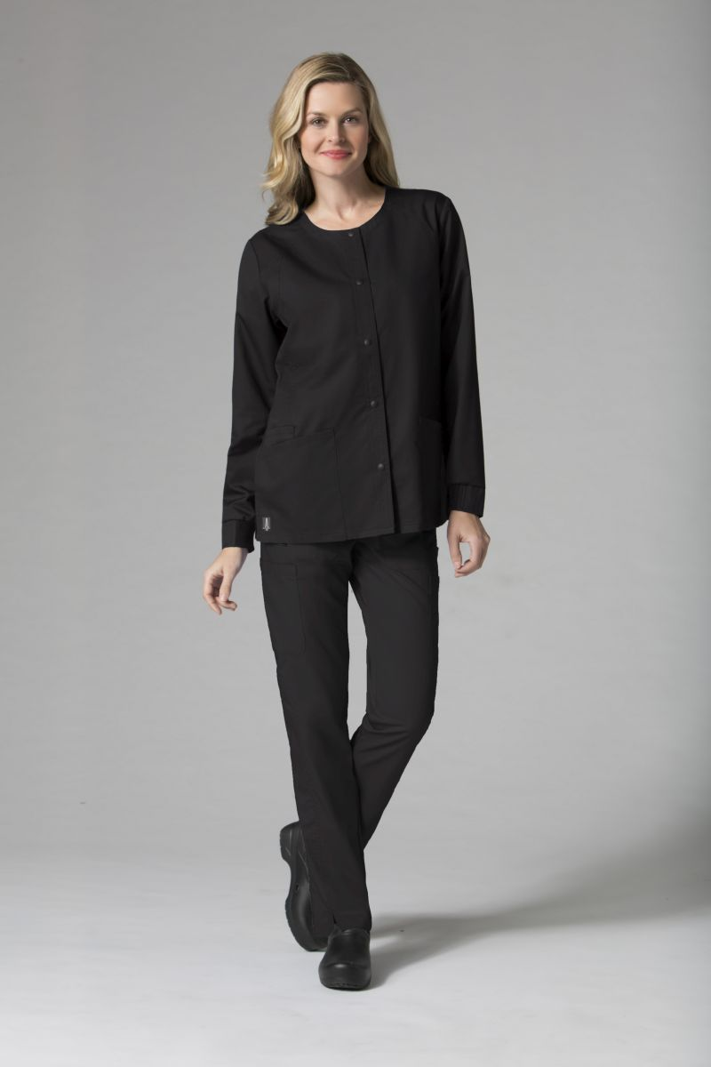 AUW - BASIC  Round Neck Snap Front Jacket-