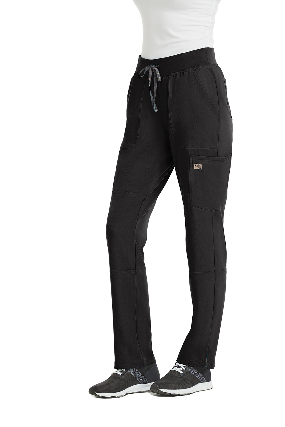 SoMi by AUW - Women's Knit Waistband Tapered Leg Pant-SoMi