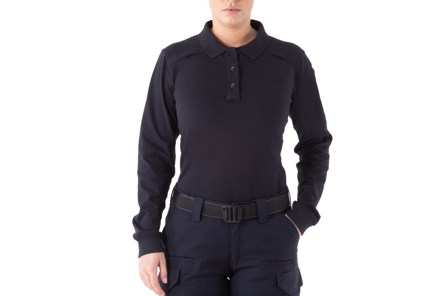 First Tactical Women's Cotton Long Sleeve Polo-First Tactical
