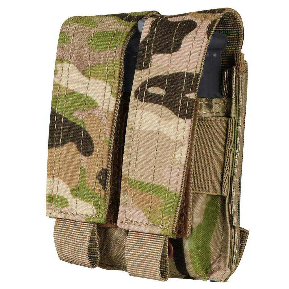 Condor Double Pistol Mag Pouch With MultiCam-