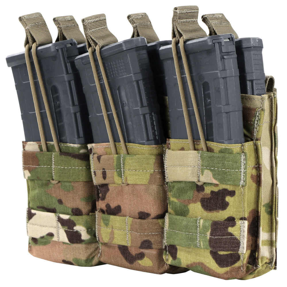 Condor Triple Stacker M4 Mag Pouch With Scorpion OCP-