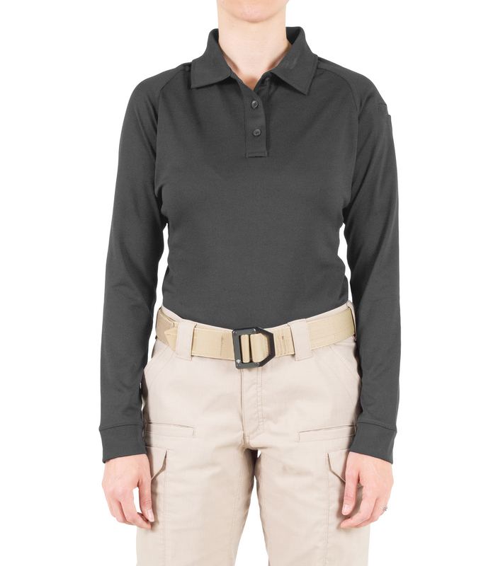 First Tactical Women's Performance Long Sleeve Polo Pocket-First Tactical